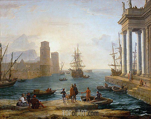 Seaport, Effects of Fog (Embarkation of Ulysses), 1646 | Claude Lorrain | Gemälde Reproduktion