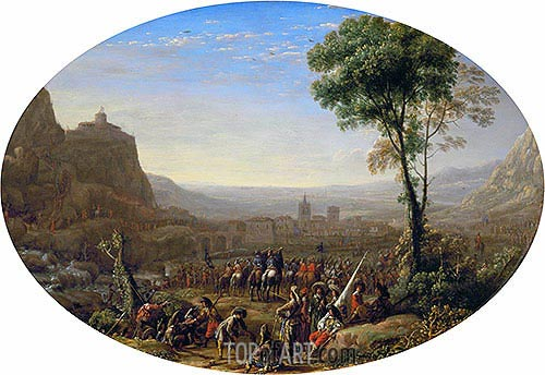 Louis XIII Takes the Pass at Suse in 1629, c.1631 | Claude Lorrain | Gemälde Reproduktion