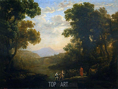 Fording a River, c.1636 | Claude Lorrain | Painting Reproduction