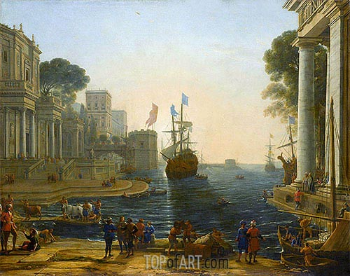 Ulysses Returns Chryseis to Her Father, c.1644 | Claude Lorrain | Gemälde Reproduktion