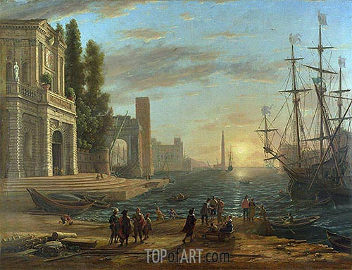 A Seaport, 1644 | Claude Lorrain | Painting Reproduction
