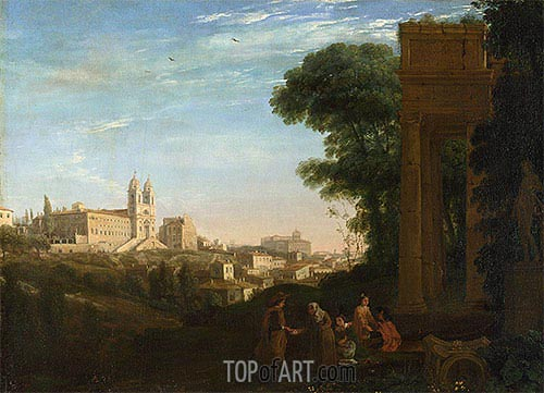 A View in Rome, 1632 | Claude Lorrain | Gemälde Reproduktion