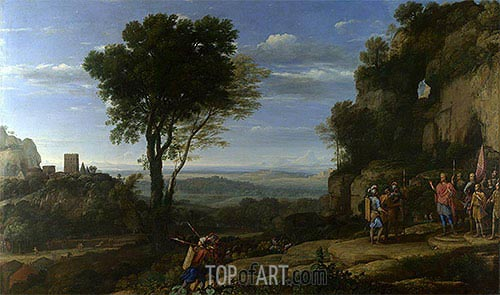 Landscape with David at the Cave of Adullam, 1658 | Claude Lorrain | Gemälde Reproduktion