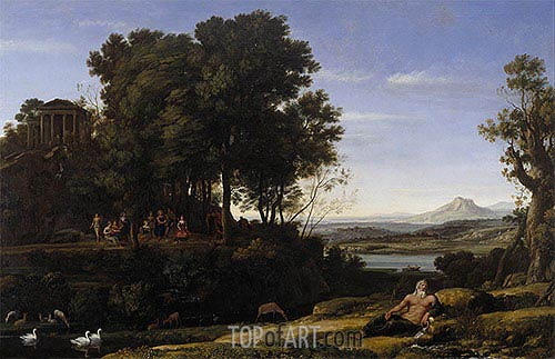 Landscape with Apollo and the Muses, 1652 | Claude Lorrain | Painting Reproduction