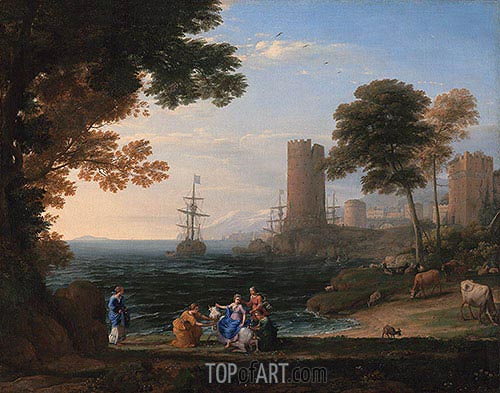 Coast View with the Abduction of Europa, 1645 | Claude Lorrain | Painting Reproduction