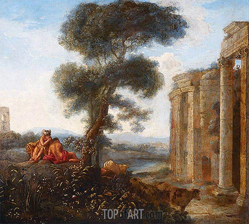 Mercury and Argus, undated | Claude Lorrain | Gemälde Reproduktion