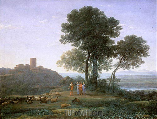Jacob with Laban and his Daughters, 1676 | Claude Lorrain | Gemälde Reproduktion