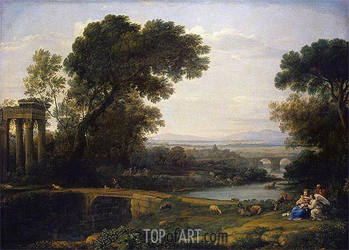 Landscape with the rest on the Flight into Egypt, 1661 | Claude Lorrain | Painting Reproduction