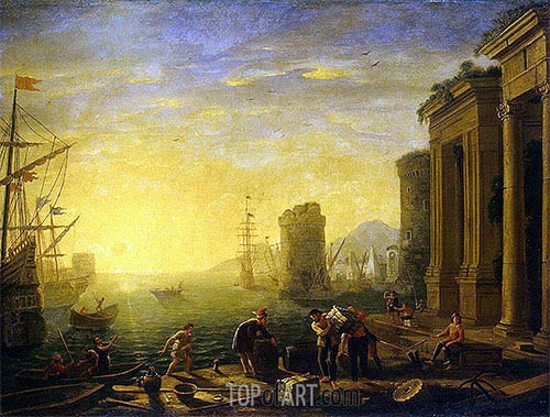 Morning in the Harbour, c.1635/40 | Claude Lorrain | Gemälde Reproduktion