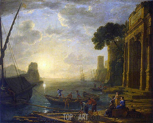 Morning in the Harbour, c.1637/40 | Claude Lorrain | Painting Reproduction