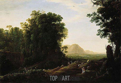 Landscape with a Piping Shepherd, c.1629/32 | Claude Lorrain | Painting Reproduction