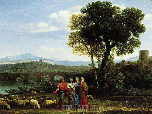 Landscape with Jacob and Laban and His Daughters, 1659 | Claude Lorrain | Painting Reproduction