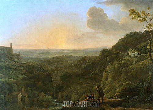 A View of the Campagna from Tivoli, c.1644/45 | Claude Lorrain | Painting Reproduction
