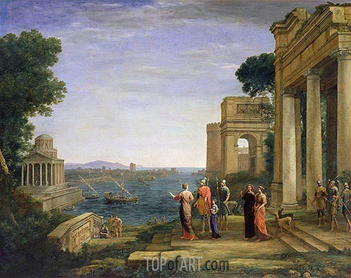 Aeneas and Dido in Carthage, 1675 | Claude Lorrain | Painting Reproduction