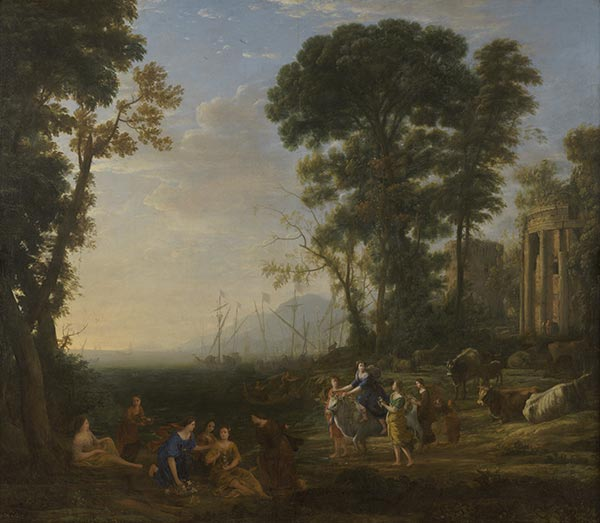 Coast Scene with Europa and the Bull, 1634 | Claude Lorrain | Painting Reproduction