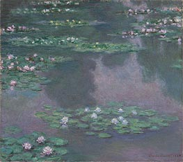 Water Lilies I, 1905 by Monet | Painting Reproduction