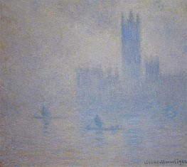 Houses of Parliament, Fog Effect, 1904 by Monet | Painting Reproduction