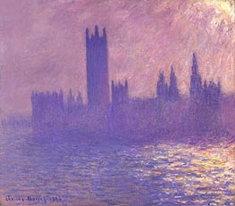 Houses of Parliament, Sunlight Effect | Monet | Painting Reproduction
