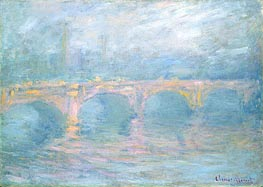 Waterloo-Brücke, London, bei Sonnenuntergang | Monet | Gemälde Reproduktion