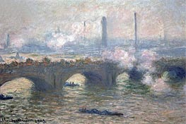 Waterloo Bridge, Gray Day, 1903 by Monet | Painting Reproduction