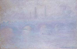Waterloo Bridge, Effect of Fog, 1903 by Monet | Painting Reproduction