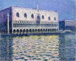 The Doge's Palace (Le Palais ducal), 1908 by Monet | Painting Reproduction