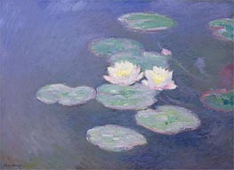 Water Lilies, Evening Effect, c.1897/98 by Monet | Painting Reproduction