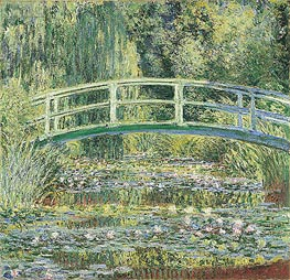 Water Lily Pond and Japanese Bridge, 1899 by Monet | Painting Reproduction