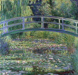 Water Lily Pond, (Symphony in Green), 1899 by Monet | Painting Reproduction