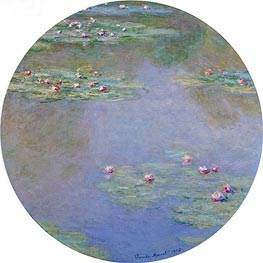 Water Lilies, 1907 by Monet | Painting Reproduction