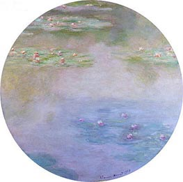 Water Lilies, Nympheas, 1907 by Monet | Painting Reproduction