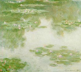 Water Lilies, Water Landscape, 1907 by Monet | Painting Reproduction