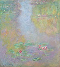 Water Lilies, 1908 by Monet | Painting Reproduction