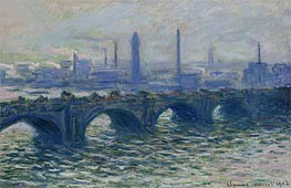 Waterloo Bridge, Misty Morning, 1902 by Monet | Painting Reproduction