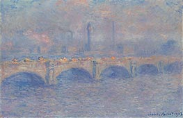 Waterloo Bridge, Sunlight Effect, 1903 by Monet | Painting Reproduction