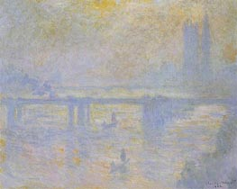 Charing Cross Bridge, 1902 by Monet | Painting Reproduction