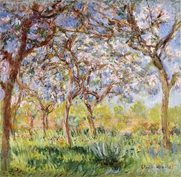 Spring at Giverny, 1900 by Monet | Painting Reproduction