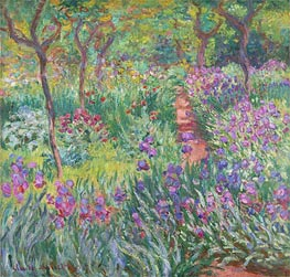 The Artist's Garden at Giverny, 1900 by Monet | Painting Reproduction