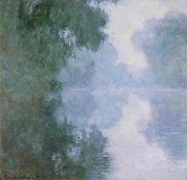 The Seine at Giverny, Morning Mists, 1897 by Monet | Painting Reproduction