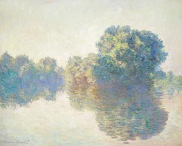 The Seine at Giverny, 1897 by Monet | Painting Reproduction