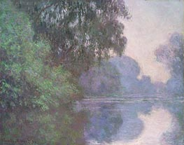 Branch of the Seine near Giverny, 1896 by Monet | Painting Reproduction