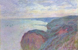 Steep Cliffs near Dieppe, 1897 by Monet | Painting Reproduction