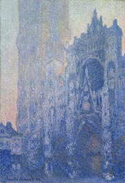 Rouen Cathedral Facade and Tour d'Albane (Morning Effect), 1894 by Monet | Painting Reproduction