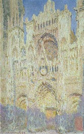 Rouen Cathedral at Sunset, 1894 by Monet | Painting Reproduction