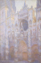 Rouen Cathedral, West Facade, 1894 by Monet | Painting Reproduction