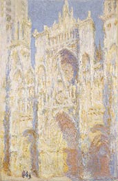 Rouen Cathedral, West Facade, Sunlight, 1894 by Monet | Painting Reproduction