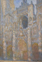 The Portal of Rouen Cathedral at Midday | Monet | Painting Reproduction
