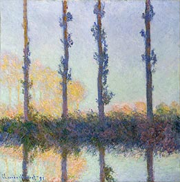 The Four Trees, Poplars | Monet | Painting Reproduction