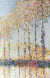 Poplars on the Bank of the Epte River | Monet | Gemälde Reproduktion