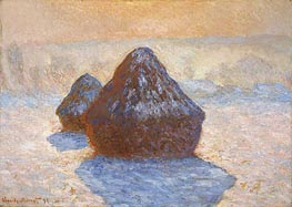 Haystacks, White Frost Effect, 1891 by Monet | Painting Reproduction